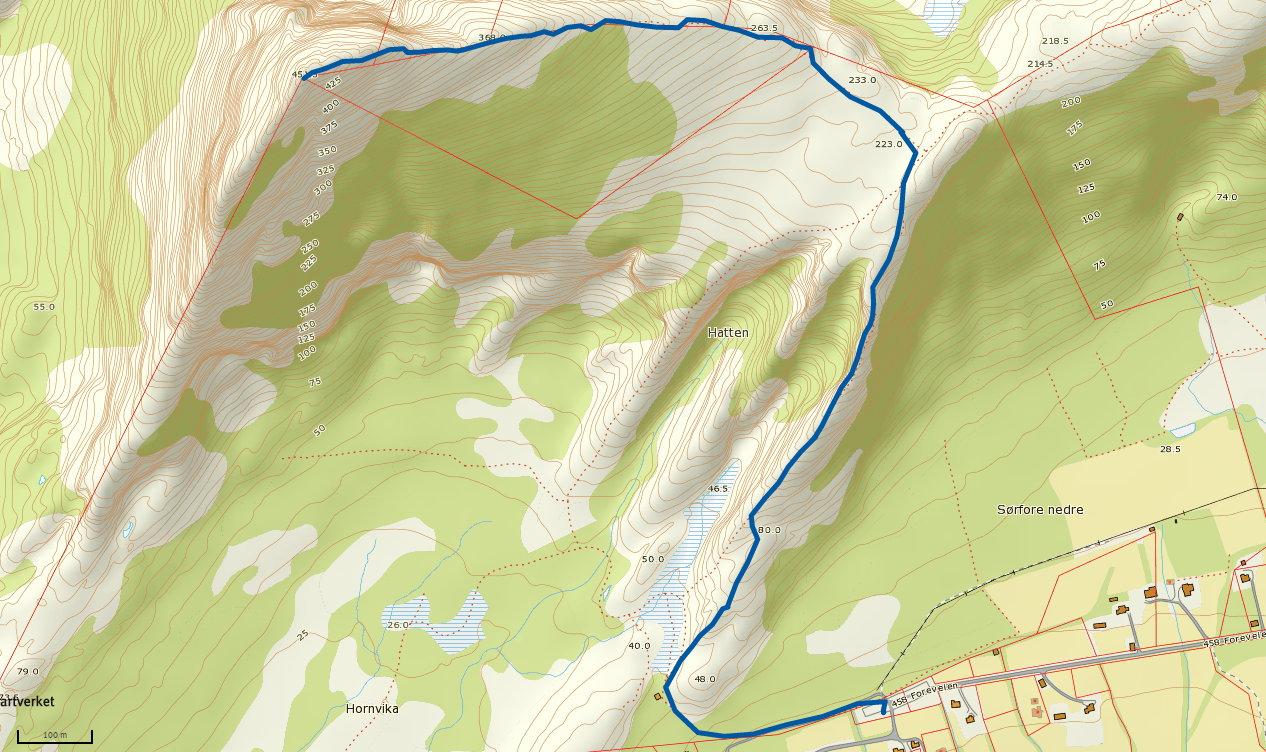 Horntinden 451 moh