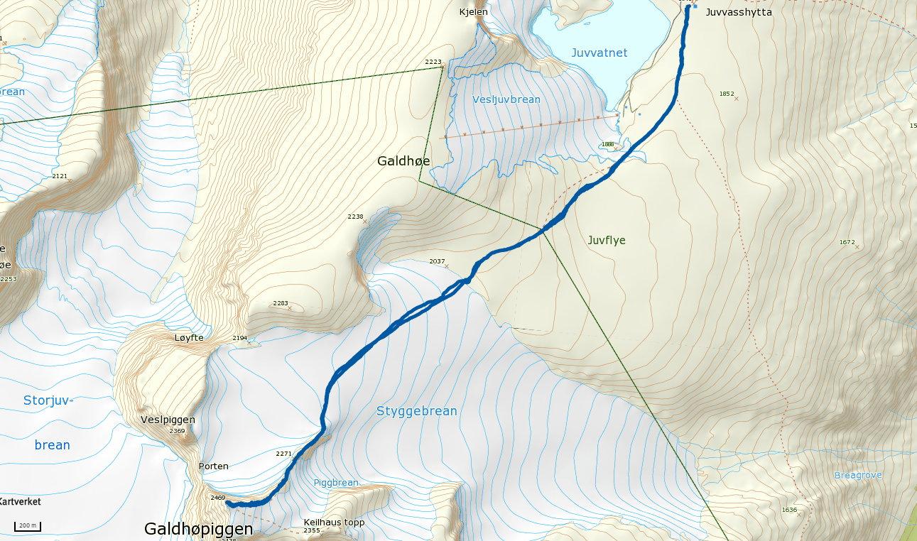 Galdhøpiggen 2469 moh