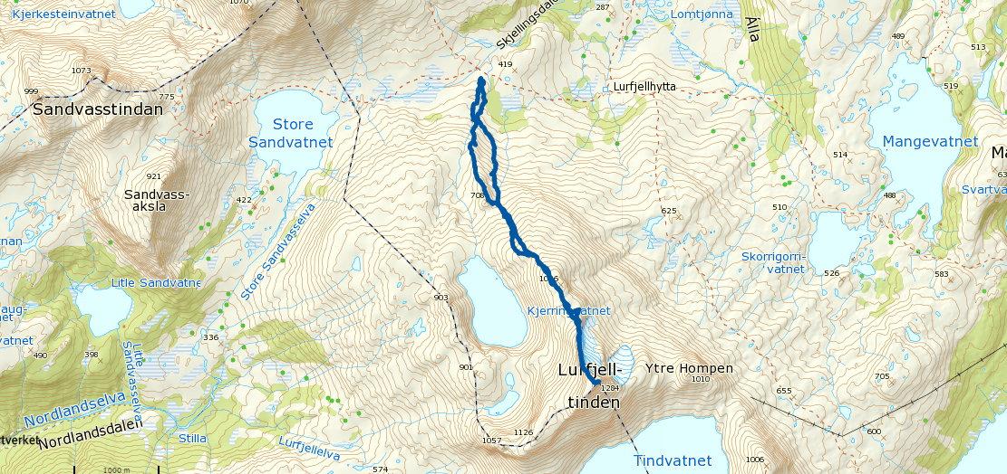 Lurfjelltinden 1283 moh