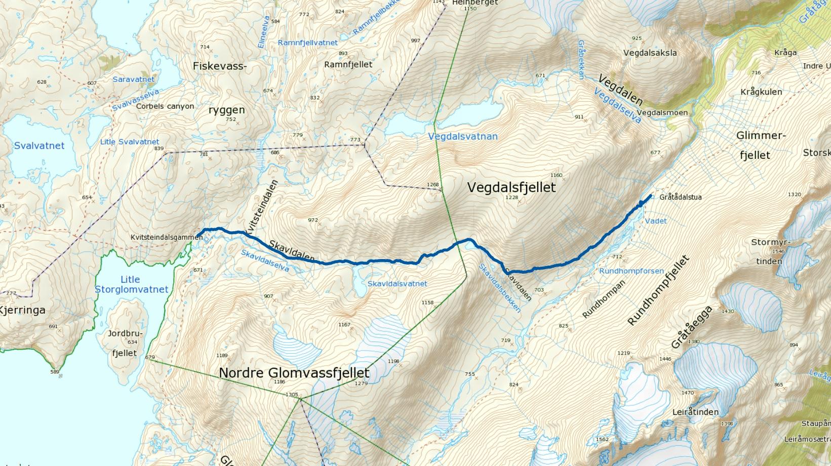 Kvitsteindalen-Gråtådalstua