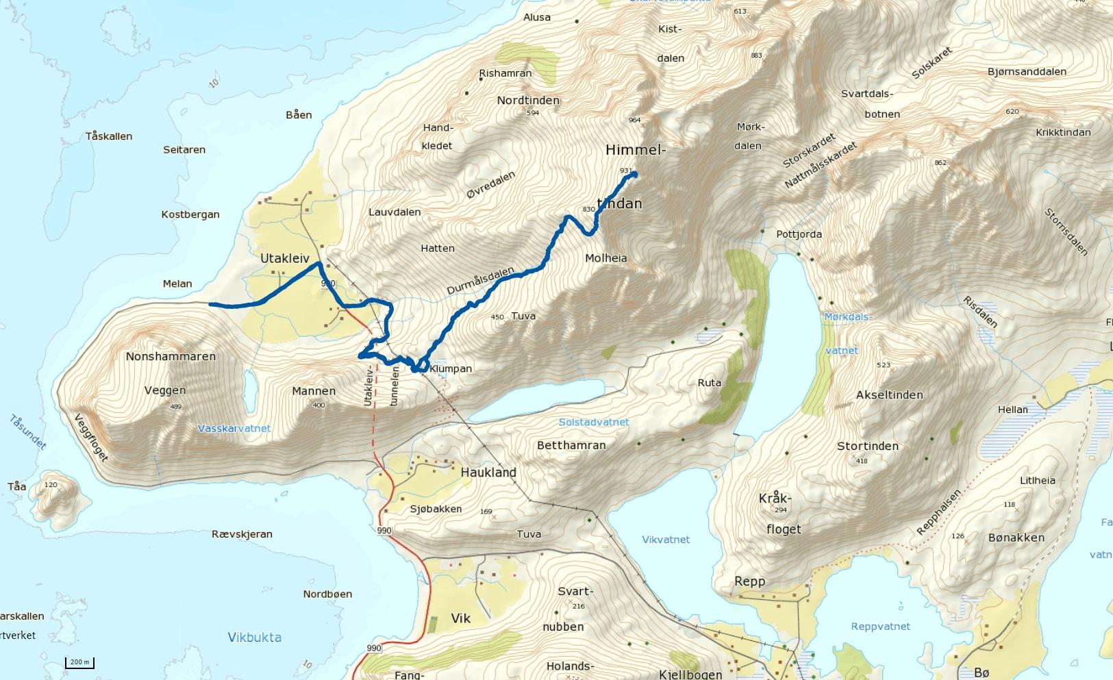 hauklandstranda lofoten kart Himmeltinden 931 moh – Norge er ikke skapt for å sitte på ræva hauklandstranda lofoten kart