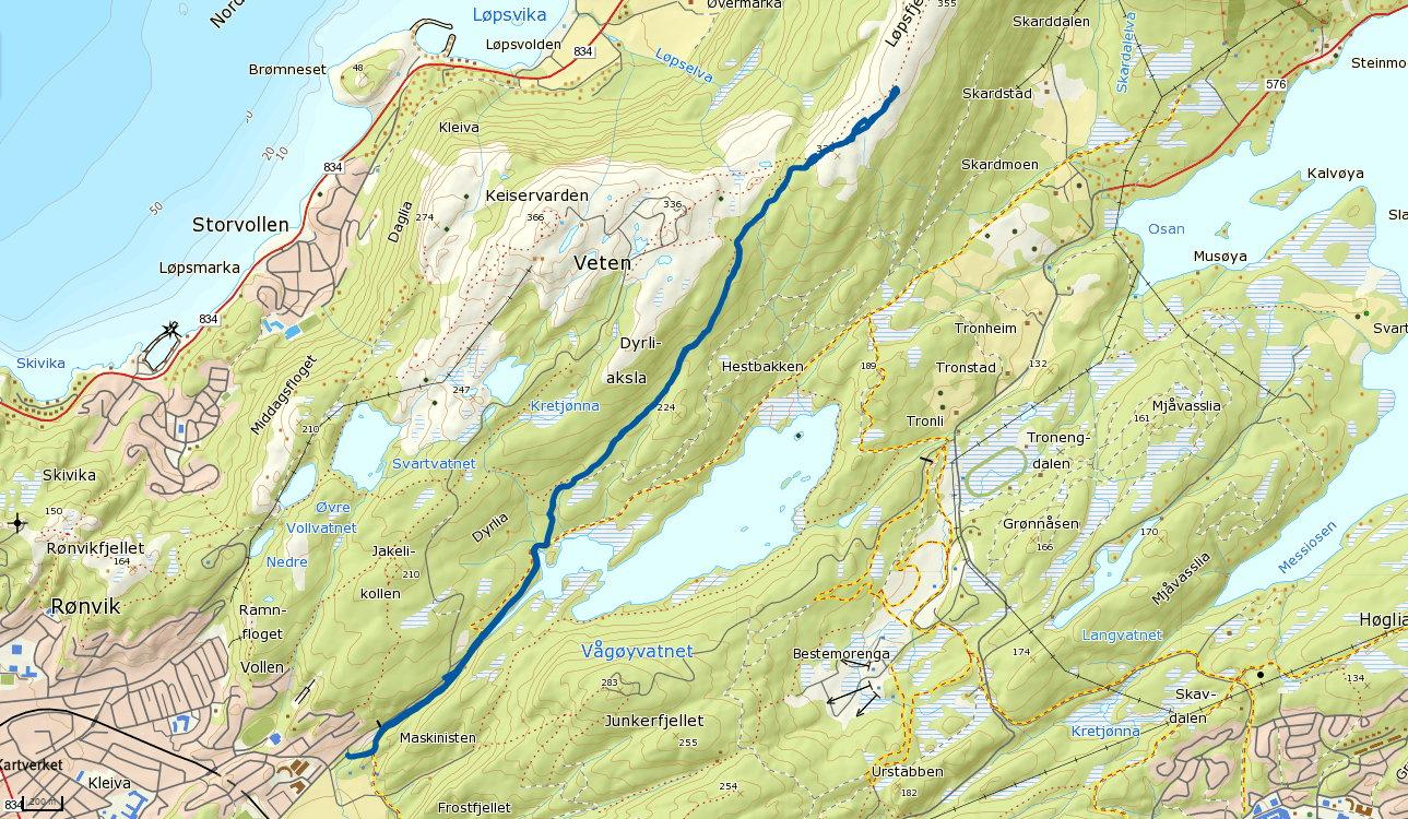 Løpsfjellet 339 moh