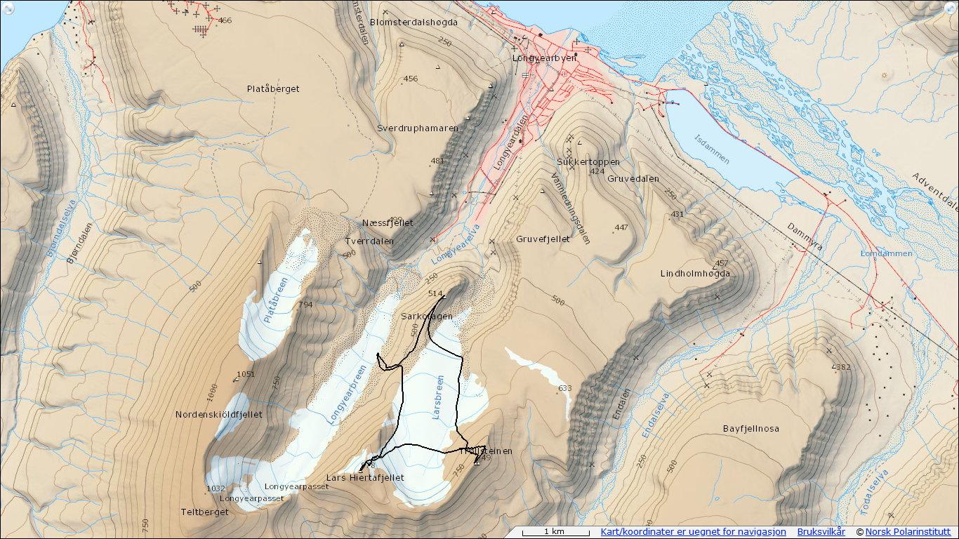 Lars Hiertafjellet 878 moh – Trollsteinen 849 moh – Sarkofagen 514 moh