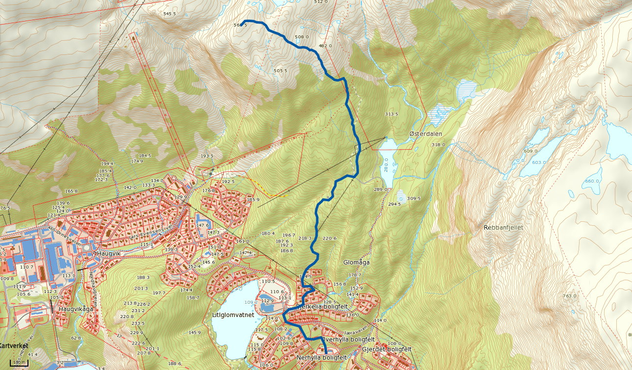 Glomvasshaugen 562 moh