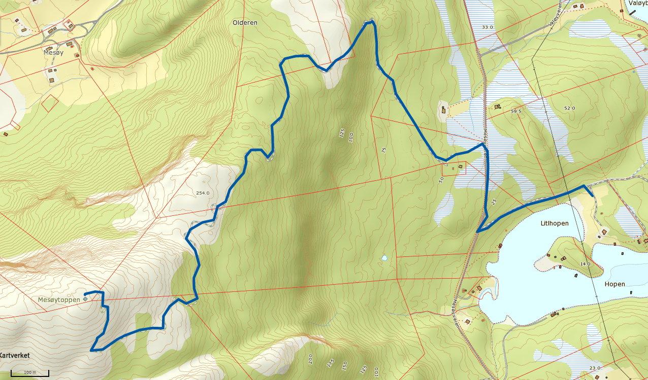 Mesøytoppen 364 moh
