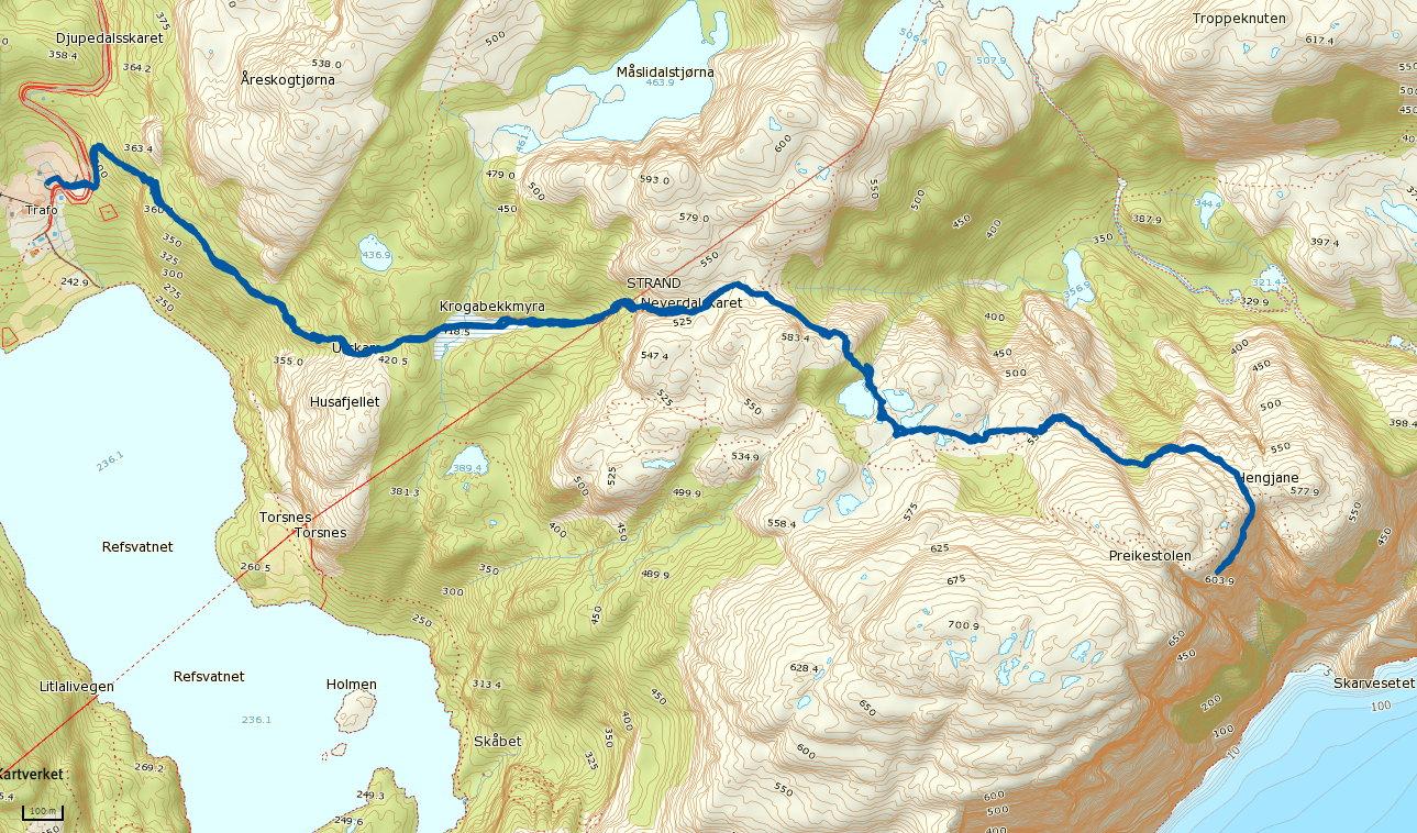 preikestolen kart Preikestolen 604 moh – Norge er ikke skapt for å sitte på ræva preikestolen kart