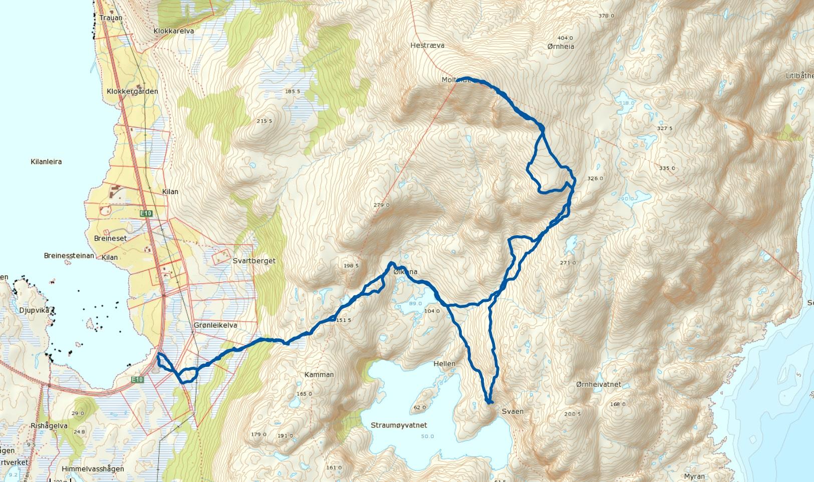 Hestræva 485 moh
