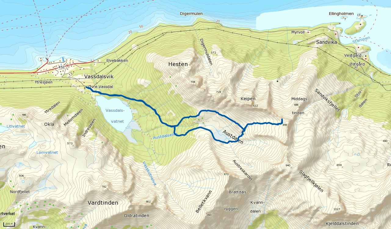 Austdalen 767 moh